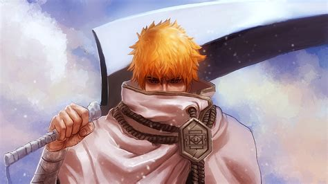 bleach full hd full hd wallpaper bleach blond sword ichigo kurosaki