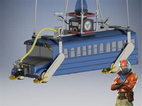how to build a boat in fortnite 3d printed battle bus fortnite by vulcan industries