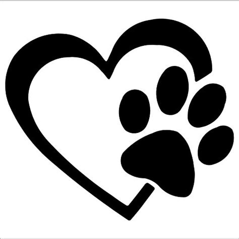 Paw Lotion Anjing with paw puppy vinyl decal window sticker