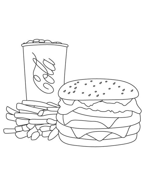 hamburger coloring page coloring home