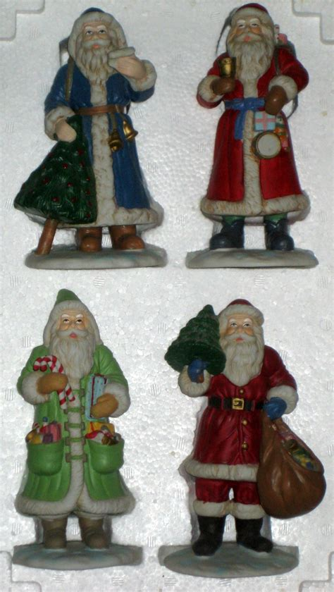 decorating with father christmas figures sold porcelain 7 inch santa claus figurines matrix industries figures st nicholas