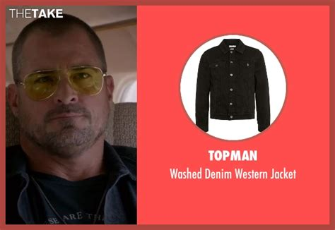 Topmen Gw 1 dalton s black topman washed denim western jacket from macgyver season 1 preview thetake