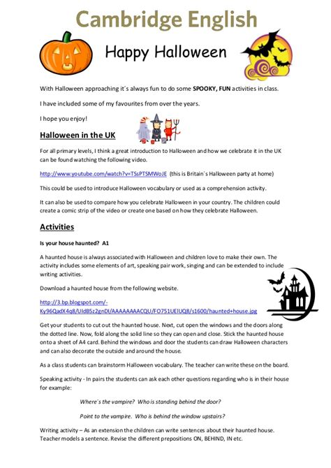 themes for teaching english to adults cambridge english halloween ideas for teachers