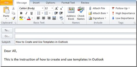 how to create an outlook template how to create and use templates in outlook