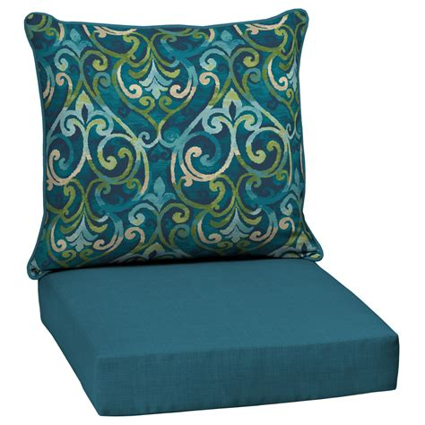 Cushion For Patio Chairs Shop Garden Treasures Damask Seat Patio Chair Cushion For Seat Chair At Lowes