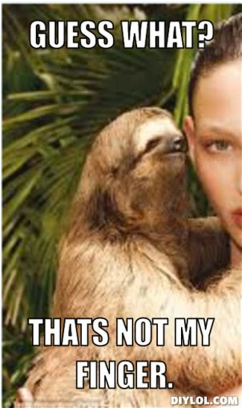 Sloth Rape Meme - bobs monkey and a thing on pinterest