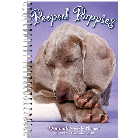 cw puppy pooped puppies 2018 weekly planner rsvp