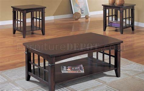 coffee table espresso finish espresso finish modern 3pc coffee table set w bottom shelf