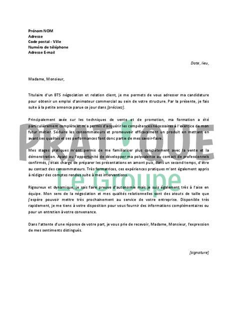 Lettre De Motivation De Debutant lettre de motivation animateur magasin ccmr