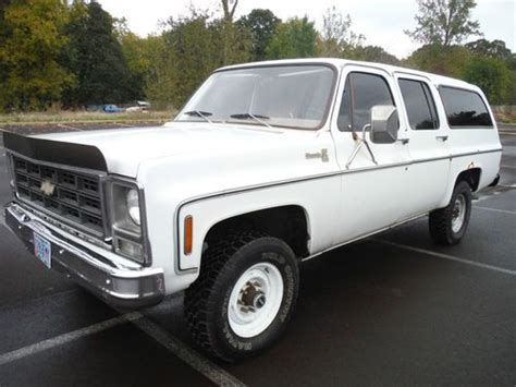 purchase used no reserve 1979 chevrolet k20 suburban