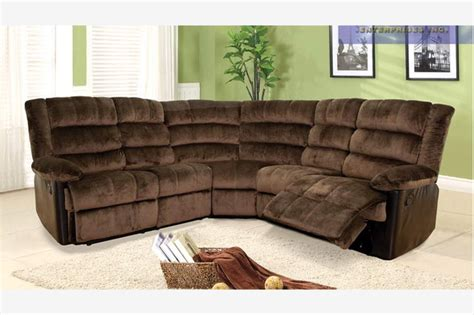 leather and cloth sectional sofas f chocolate fabric leather dual reclining sectional sofa