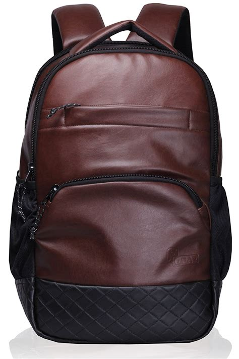 Up To 25 Leo Laptop Bags by Bag F Gear Luxur 25 Liter Laptop Backpack Brown Maacarts