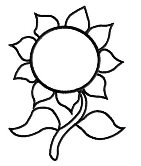 sunflower template printable sunflower outline clipart best