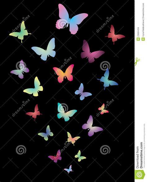 imagenes de mariposas en negro mariposas brillantes en un fondo negro ilustraci 243 n del