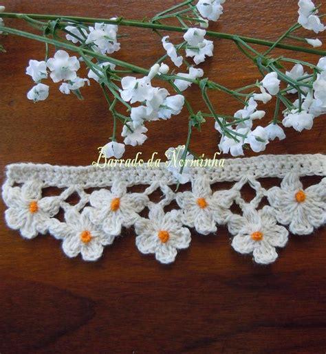 Crochet Edging Free Pattern Flowers