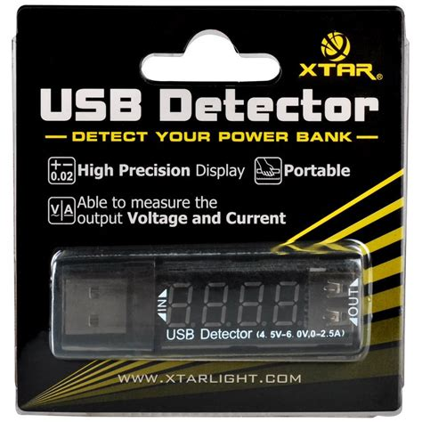xtar vi01 usb detector power current and voltage tester black jakartanotebook
