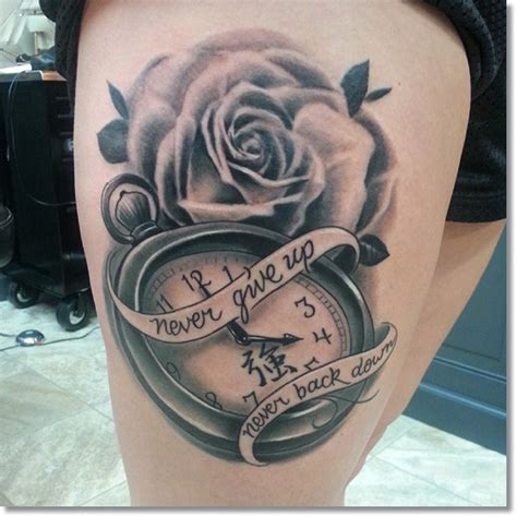 pocket watch and roses tattoo 45 outstanding pocket tattoos made golfian