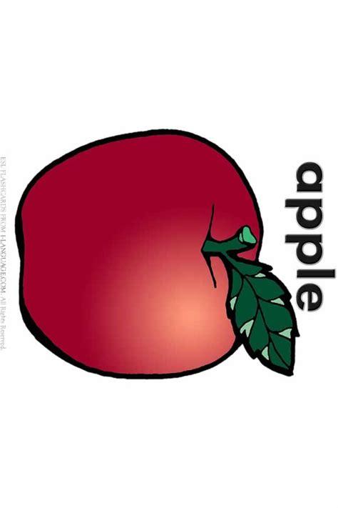 esl flashcards apple