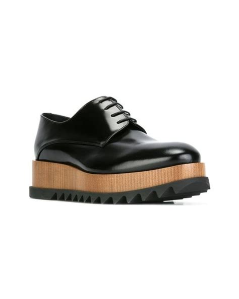 platform oxford shoes jil sander platform oxford shoes in black lyst