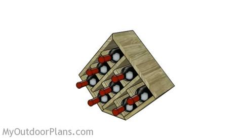 wood wine rack plans myoutdoorplans  woodworking plans  projects diy shed wooden