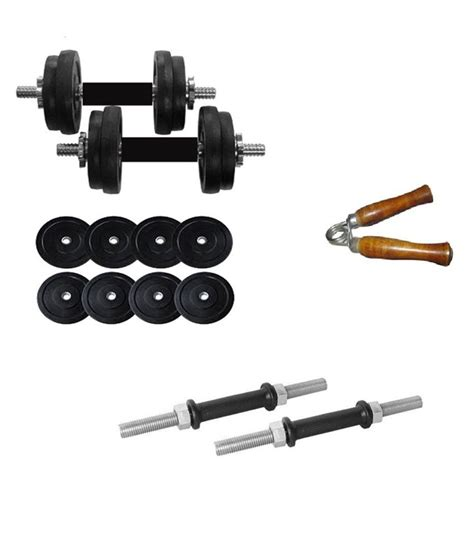 Dumbbell Set 10 Kg aurion 10 kg dumbbell set with accessories buy at best price on snapdeal
