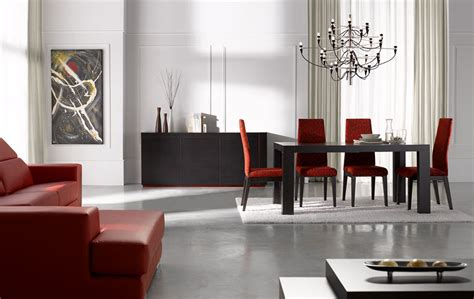 Modern Dining Rooms Sets Extendable Rectangular In Wood Fabric Seats Modern Furniture Table Set Chicago Illinois Esfine