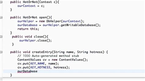 android studio sqlite database tutorial pdf android application development tutorial 117 inserting