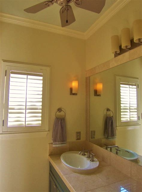 ceiling fan in bathroom bath petite ceiling fan sconce vanity fixtures are