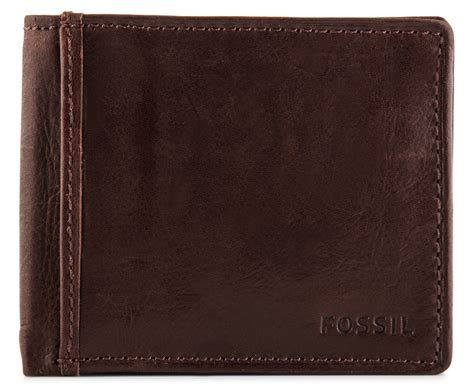 Fossil Ingram Trifold Brown Wallet catchoftheday au fossil s leather ingram traveler trifold wallet brown