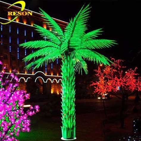 garden decor led outdoor landscape light up palm tree