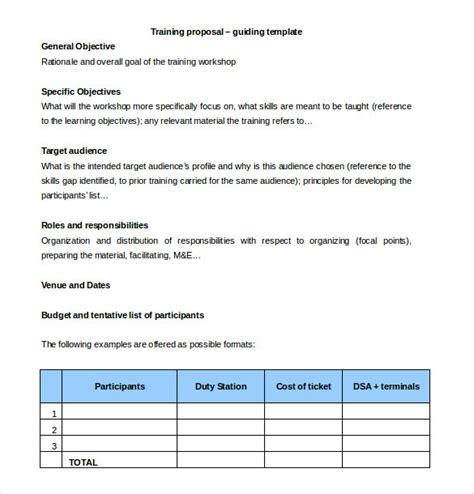 design workshop proposal training proposal templates 32 free sle exle