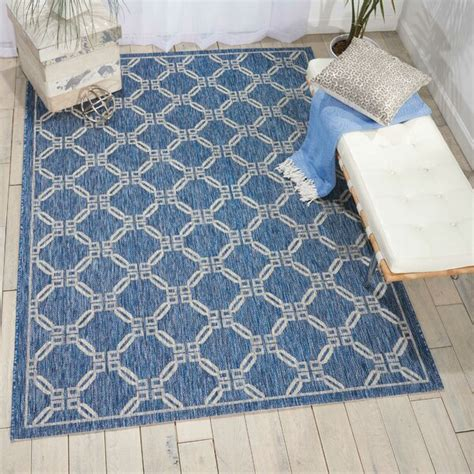charlton home cochrane denim indooroutdoor area rug