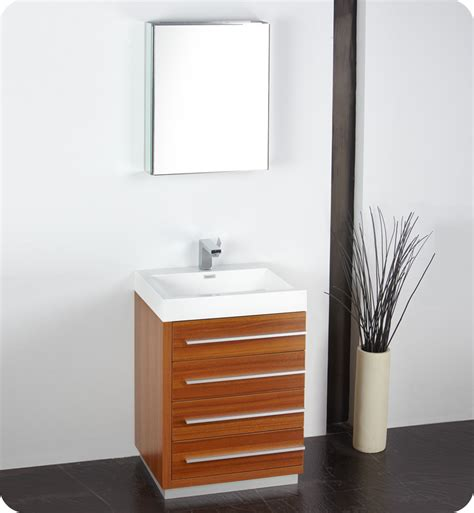 fresca bathroom vanities fresca livello 24 quot teak modern bathroom vanity