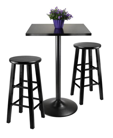 Bar Table Dining Set Counter Height Dining Set 3 Stool Bar Dinette Table Kitchen Apartment Wood Ebay