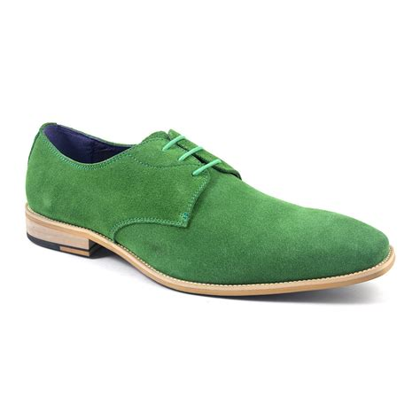 green shoes buy mens green suede derby shoes gucinari