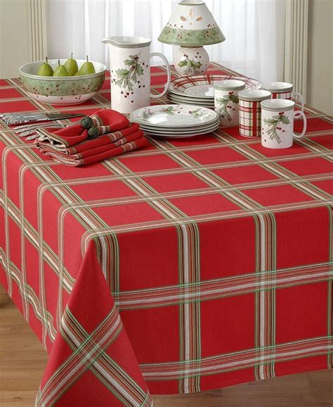 24 best christmas red plaid tablecloth images on pinterest