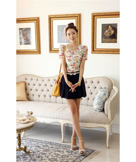 Dress Korea Original Import E2055 baju import korea baju korea asli big size dress grosir holidays oo