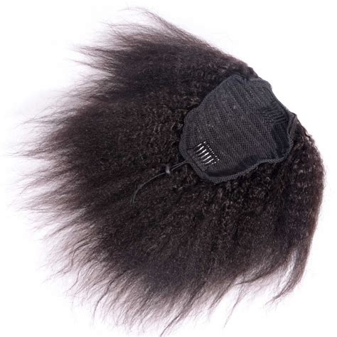ombre african american ponytails pieces afro kinky curly ponytail human hair extension drawstring