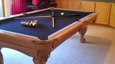 8ft slate pool 8 foot pro line solid maple slate pool 1000 youtube