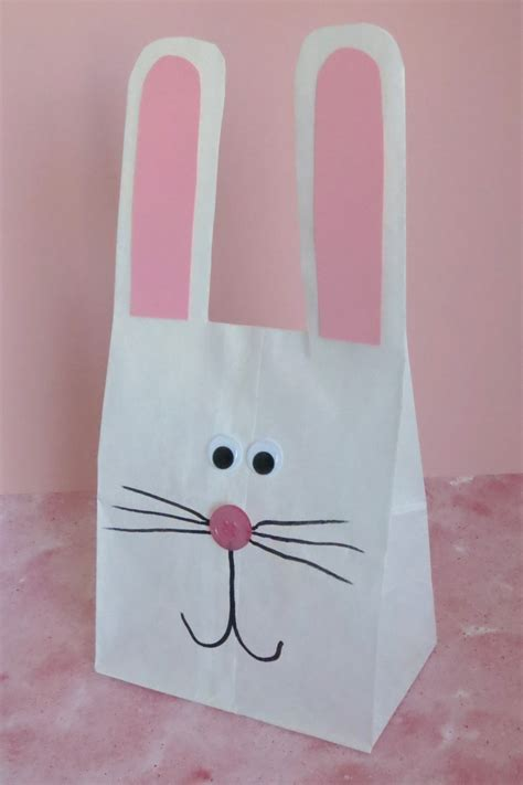 paper bag bunny template paper bag bunny
