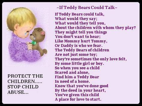 child poem if teddy bears poem child abuse this poem breaks my