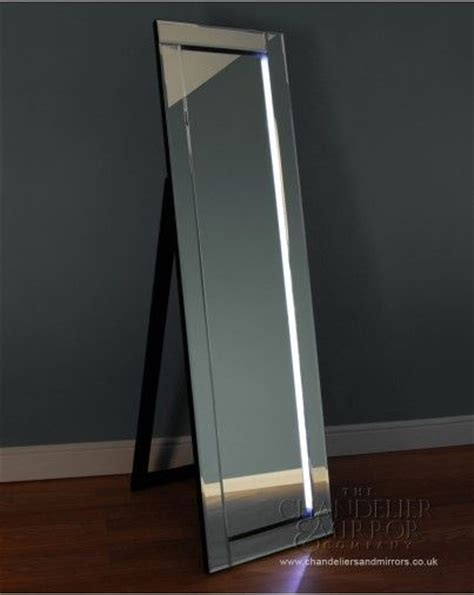 full length mirror with led lights barelo a chic full length free standing mirror with