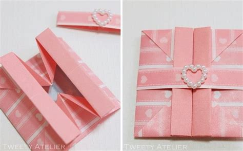 Paper Folding Cards - origami fold envelope card 漂亮的手折礼物包装袋