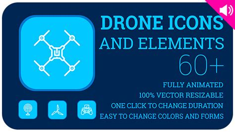 Drones Icons And Elements By Likeman Videohive After Effects Drone Template