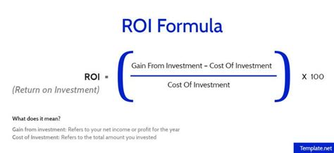 Us News Mba Return On Investment by How To Calculate Return On Investment Roi Free