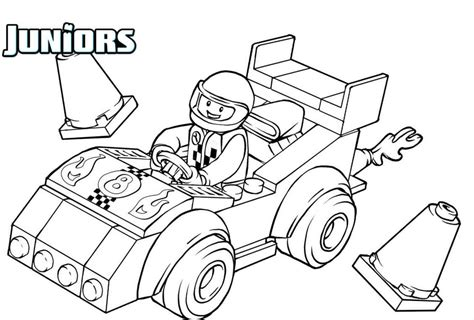coloring pages of lego cars lego driving a race car lego coloring pages pinterest