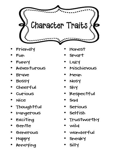 Character Traits Letter Z march literacy centers and a freebie character trait literacy and school