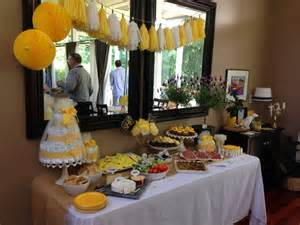 Baby Shower Buffet Table Decorating Ideas 31 Bee Themed Baby Shower Decorations