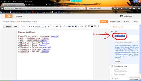 cara membuat scroll pada label blog kumpulan info tips cara membuat label pada blog dunia baru