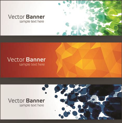 html header design online creative website headers banner vector set free vector in